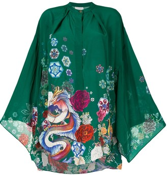 Camilla Kimono Sleeve Blouse
