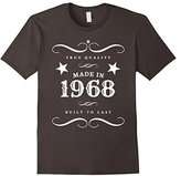 "Men's 49th Birthday T-Shirt. ""Made in 1968"" Gift Tee 3XL"