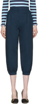 Fendi Navy Cuffed Trousers