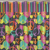 JCPenney JCP Peace & Love Shower Curtain