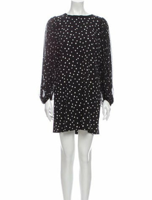 Dolce & Gabbana Silk Mini Dress Black