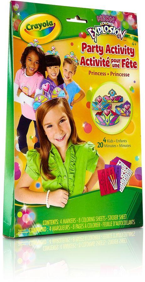 Crayola Neon Color Explosion Party Activity Princess Set