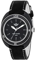 adidas Women's 'Stan Smith' Quartz Plastic and Leather Casual Watch, Color:Black (Model: ADH3181)