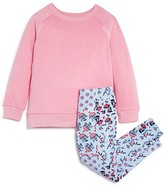Splendid Girls' Topstitched Sweatshirt & Floral Leggings Set - Sizes 4-6X