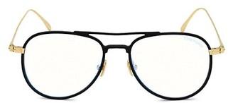 Tom Ford 52MM Blue Block Aviator Eyeglasses