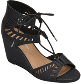 City Classified Black Bailey Wedge Sandal