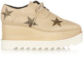 Stella McCartney Faux Leather Platform Brogues - Beige