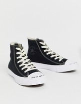 Converse Black Chuck Taylor Hi All Star Renew Recycled Sneakers