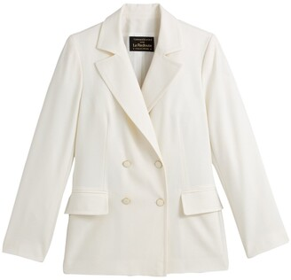 Vanessa Seward X La Redoute Collections Double-Breasted Blazer with Padded Shoulders