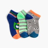 J.Crew Boys' striped luchador ankle socks three-pack