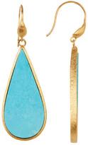 Rivka Friedman 18K Clad Sliced Magnesite Hook Satin Earrings