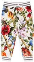 Dolce & Gabbana Floral Print Cotton Sweatpants