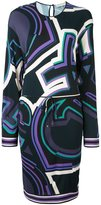 Emilio Pucci abstract print longsleeved dress - women - Silk/Viscose - 42