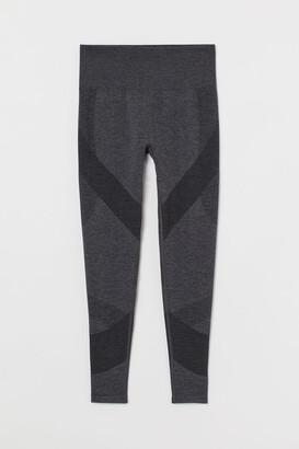 H&M Seamless Leggings High Waist - Black