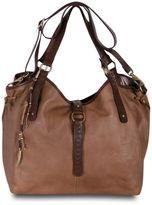 Lucky Brand Handbag, Ojai Leather Large Convertible Hobo Bag