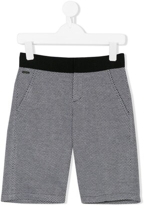 Lanvin Enfant Small Check Shorts