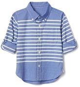 Gap Stripe oxford convertible shirt