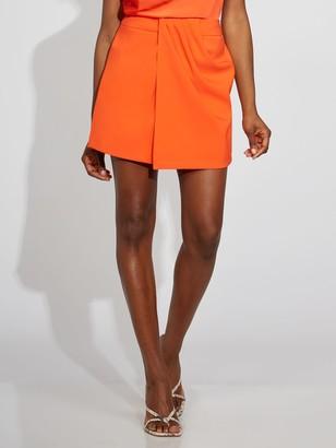 New York & Co. Orange Draped Skort - Gabrielle Union Collection