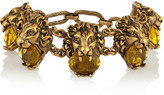 Gucci Gold-tone Crystal Bracelet - one size