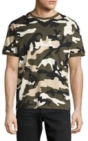 Valentino Camouflage Jersey Ringer T-Shirt, Green
