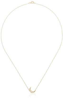 Andrea Fohrman Mini Crescent Diamond Necklace