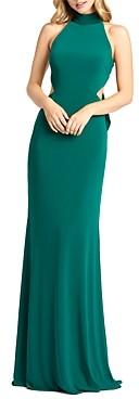 Mac Duggal Halter Neck Long Dress