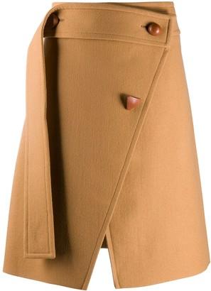 Stella McCartney Asymmetric Wrap-Style Skirt