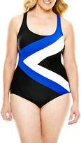 Delta Burke Sporty X-Back One-Piece Swimsuit - Plus