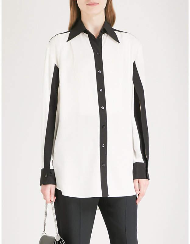 Givenchy Monochrome silk-crepe shirt