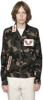 Valentino Military Patches Camo Gabardine Shirt