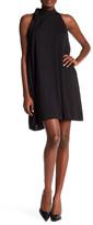 Rachel Roy Pocketed Tie Neck Mini Dress