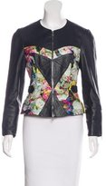 Erdem Leather Floral Print Jacket