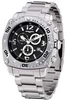 Jorg Gray Men's Swiss Movement Quartz Watch JG9800-11 with Solid Stainless Steel Bracelet and Safety Clasp