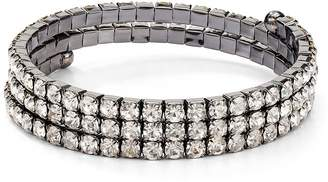 Aqua Crystal Coil Bracelet