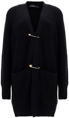 Versace Safety-Pin Knit Cardigan