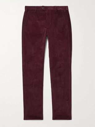 JAMES PURDEY & SONS Slim-Fit Stretch-Cotton Corduroy Trousers