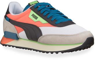 Puma Men's Future Rider Neon Play Colorblock Runner Sneakers