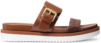 MICHAEL Michael Kors Bo Leather Platform Slides