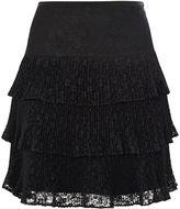 Karen Millen Floral Lace Skirt - Black