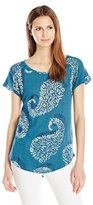 Lucky Brand Women's Exploded Paisely Tee