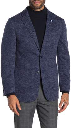 Ben Sherman Navy Heathered Two Button Notch Collar Blazer
