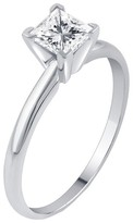 3/4 CT. T.W. IGL certified Princess-cut Diamond Solitaire Prong Set Ring in 14K Gold (HI-I2I3)