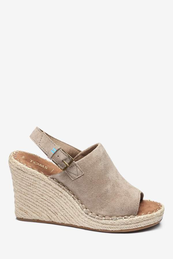 4d7a8c66efa Womens Desert Taupe Monica Espadrille Suede Wedge - Natural