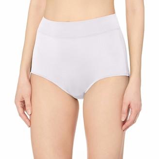 Warner's Warners Women's No Pinching No Problems Hi Cut Brief Panty Black/White Pin Dot XXX-Large