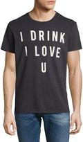 Sol Angeles I Drink I Love U Crewneck T-Shirt, Black