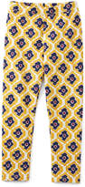 Gold Medallion Cotton-Blend Leggings - Toddler & Girls