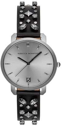 Rebecca Minkoff Women's Billie Studded Leather Strap Watch, 34mm