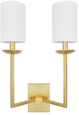 Worlds Away 2 - Light Dimmable Armed Sconce Finish: Gold