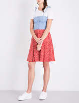 Esprit X Opening Ceremony Floral-print denim and jersey dress