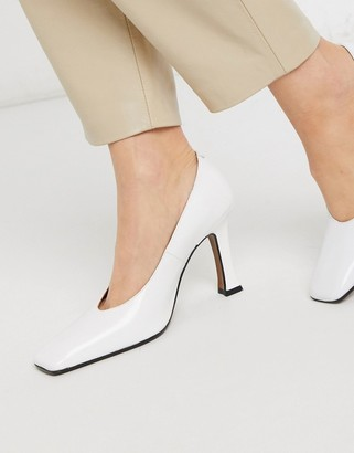 CHIO court shoes in white leather